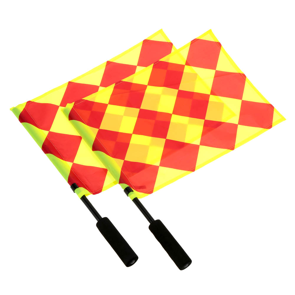 Soccer Referee Flag with Carry Bag Football Judge Sideline Fair Play use Sports Match Football Linesman Flags Referee Equipment(China (Mainland))
