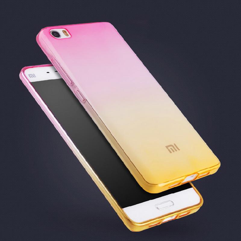 Mi5s Redmi Note 2 3 4 Gradient Clear Soft TPU Case For Xiaomi Redmi 3 3s 4s 4c 5 5s 4A Pro Plus Mix Silcon Cover Cell Phone Case(China (Mainland))