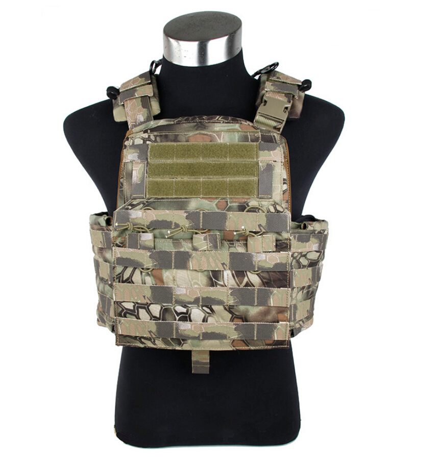 TMC MAD Camo Tactical Military Combat Cordura Cherry Plate Carrier Vest<br>