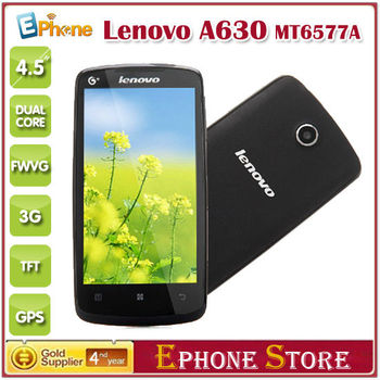 """On Sale Original Lenovo A630 4.5"""" Support Multiple Language Android 4.0 MTK6577 Dual Core RAM 512 ROM 4GB Dual SIM Card Z#"""