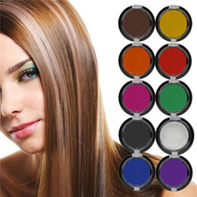2016 Non-toxic Professional Temporary Hair Dye Powder cake Styling Hair Chalk Set Soft Pastels Salon Tools Kit