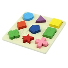 M89 Free Shipping Kids Baby Wooden Learning Geometry Educational Toy Puzzle Montessori Early(China (Mainland))