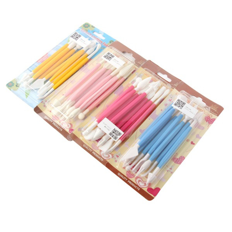 16 Patterns Fondant Cake Decorating Flower Sugarcraft Modelling Tools Clay Tip Tool Set(China (Mainland))