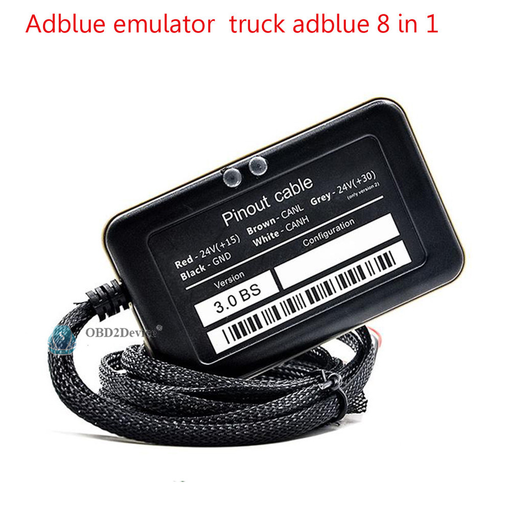2016 Newest design Truck Adblue Emulator 8 in 1 super quality promise adblue 8 in 1 with Programing Adapter fast delivery(China (Mainland))