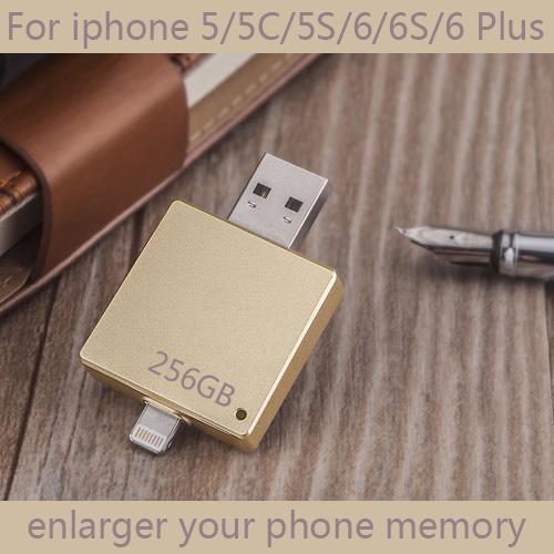 Up To 256GB 512GB 1TB 2TB Lightning OTG USB Flash Drive 16GB 32GB 64GB 128GB Pendrive Memory Stick Card For Iphone 6s/6/5 Gift(China (Mainland))