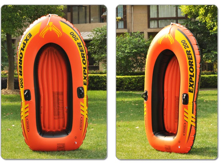 Send oars pump INTEX58331 Explorer double INFLATABLE BOAT DINGHY Inflatable Kayak(China (Mainland))