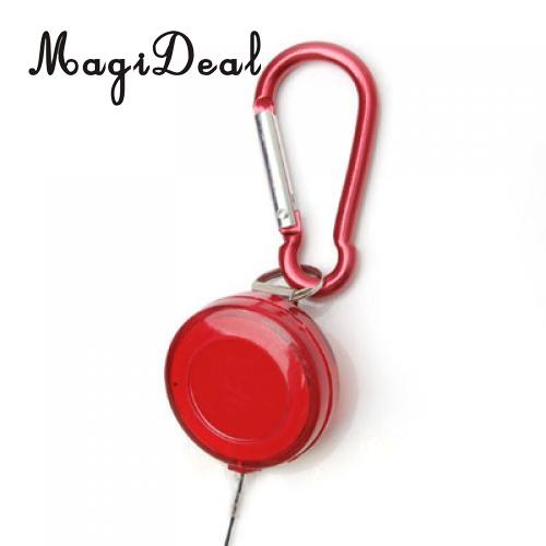 MagiDeal High Quality Retractable Badge Reel Golf Scoring Pen Belt Clip with Carabiner Snap Hook for Outdoor Sports Golf Aids