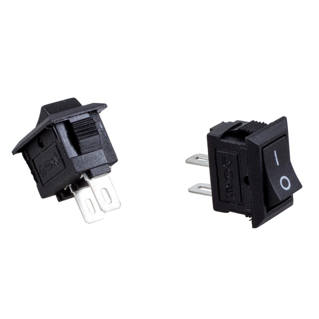 5 x AC 250V 3A 2 Pin ON/OFF I/O SPST Snap in Mini Boat Rocker Switch