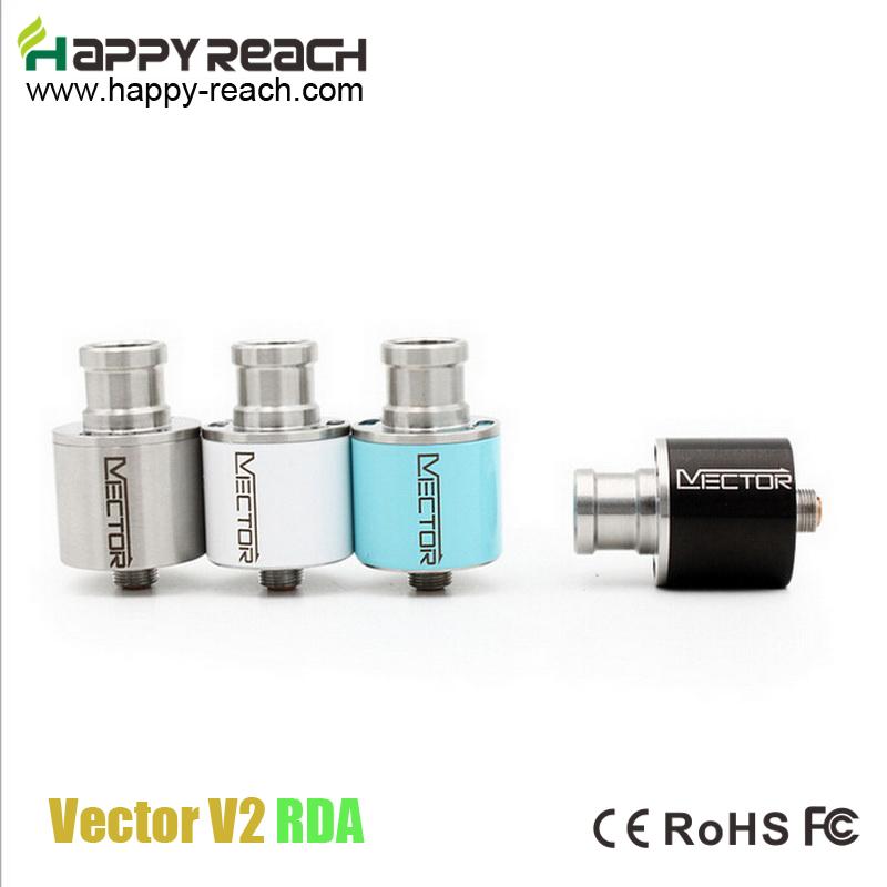 New arrival !!!2 PCS Rebuildable Vector V2 RDA Atomizer Vector RDA Copper pin Leak-free Vaporizer Vector Airflow Control(China (Mainland))