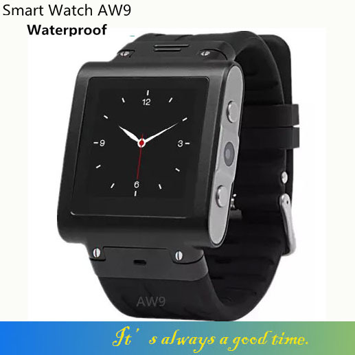 AW9 Stainless Waterproof Smart Watch Mobile Phone SIM/Dial Call /micro-channel MP3/MP4/E-book/Earphone/MIC built-in/Camera(China (Mainland))