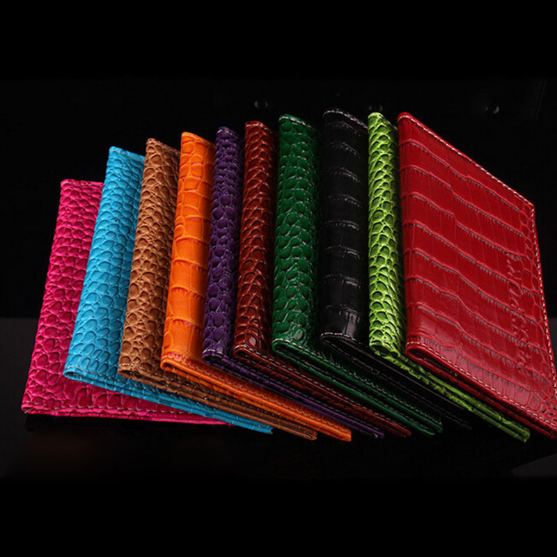 Passport Cover New Arrival PU Leather Alligator Embossing Passort Holder Protector Wallet Business Card Holder