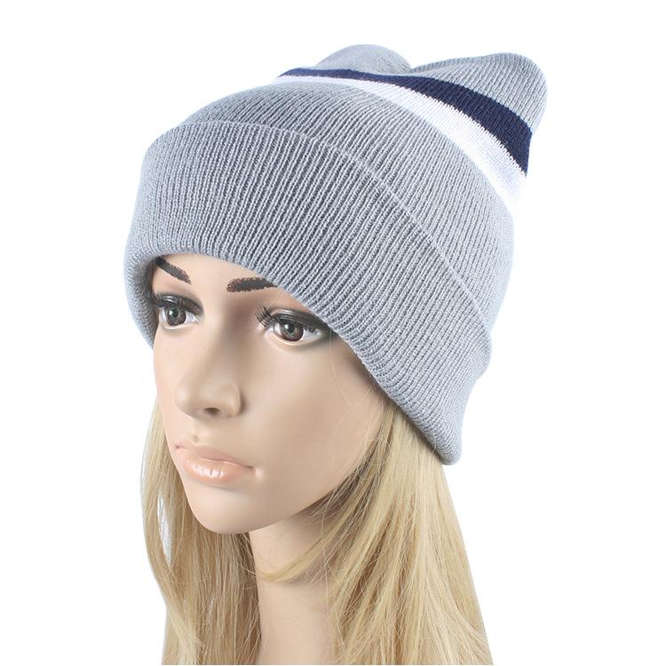 Beanies Winter Hat For Women Knitted Hat Women Winter Hats For Women Men Knit Caps Blank Casual Wool Warm Flat Bonnet Beanie 201(China (Mainland))