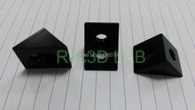 [ Артикул 620 ] чёрная оксидная плёнка 90 градусов угловой угловые кронштейн 20 * 20 для v — слот алюминиевых профилей профиль 100 шт