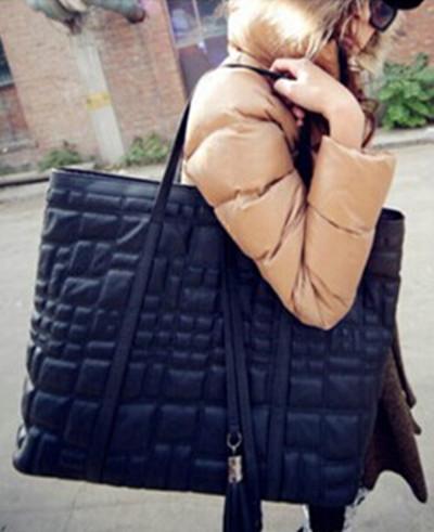 2014 winter new fashion suture belt decorated car handbag shoulder bag handbag(China (Mainland))