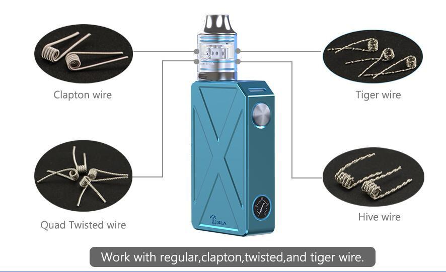 ถูก 100%เดิมเทสลารุกรานIIIชุดเริ่มต้นรุกราน3 240วัตต์สมัยกล่องที่มีแคลปตันRDAเครื่องฉีดน้ำ0.1ohmบุหรี่อิเล็กทรอนิกส์ชุด