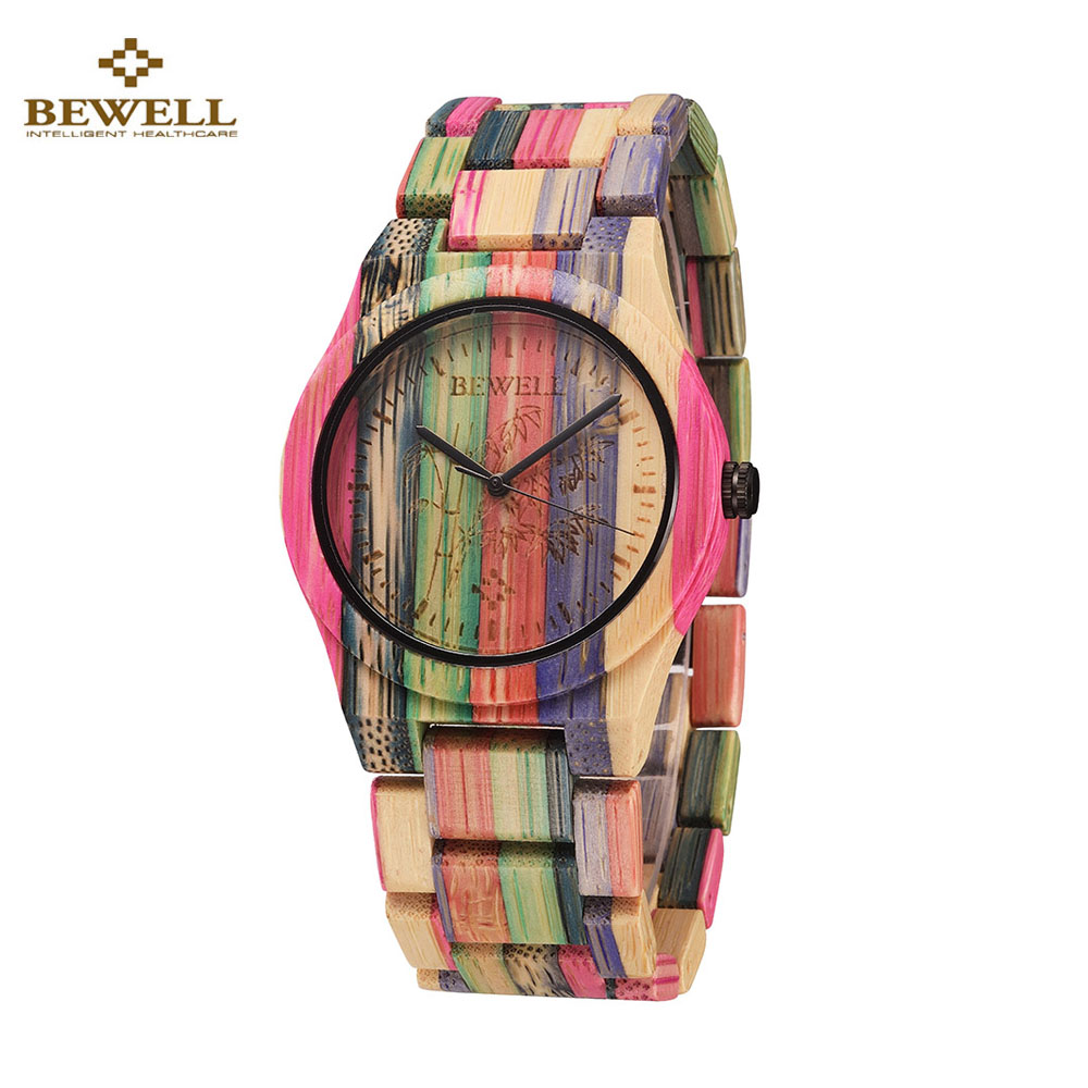 Full Bamboo Watch Women Luxury Brand BEWELL New Natural Quartz Wooden Bamboo Watch Women Clock Wood Watch With Bamboo Band 2016(China (Mainland))