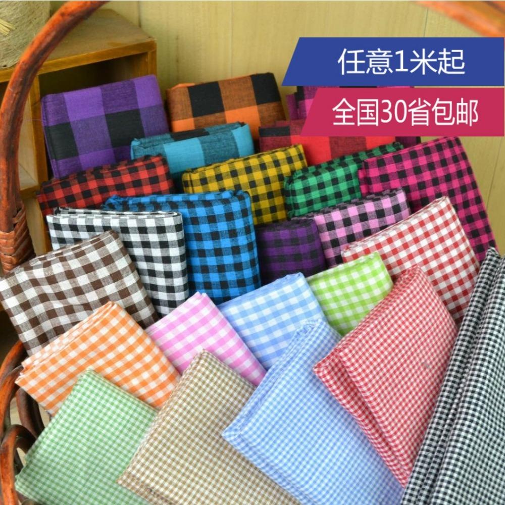 Customized 145cm width Scotland lattice font b Tartan b font Plaid Cotton chiffon satin silk Cloth