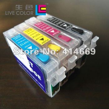 KCMY 4 full chip ink cartridge for Epson T0711 T0712 T0713 T0714 T0715, for Epson stylus D78 D92 D98 DX4500 B1100 S20 S21 SX100
