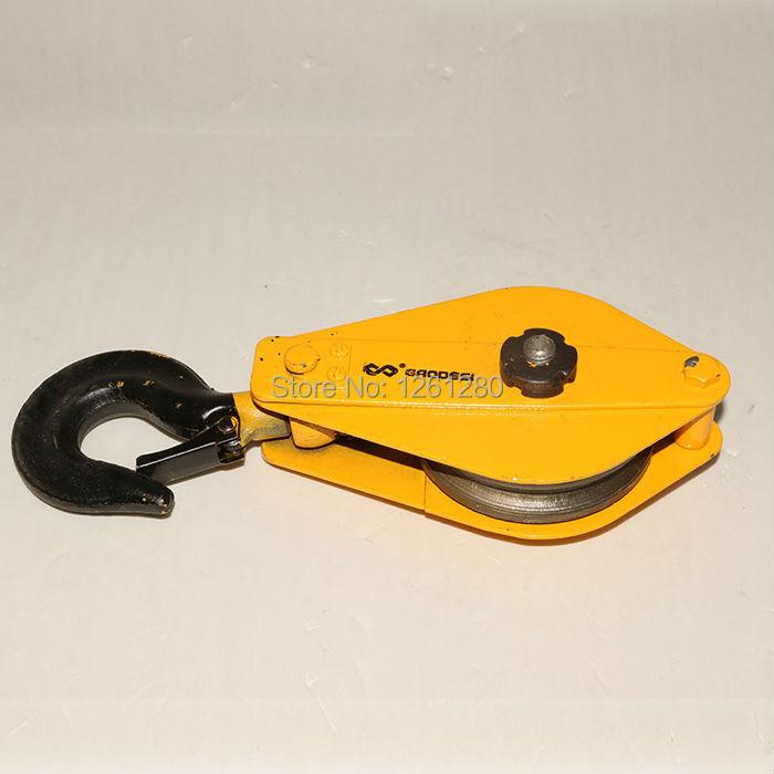 free shipping 0 5t Lifting pulley lifting hook Lifting Tools electric hoist hook hardware wheel
