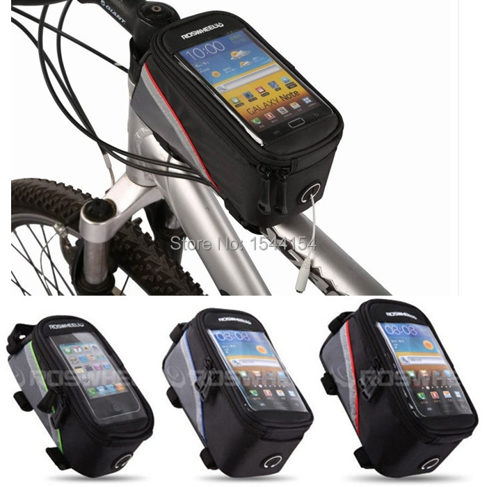 Off-road Sports Bicycle Cycling Bike Racing Frame Front Tube Bag Touchscreen Mobile key Case Package Pouch Pack For Cell Phone(China (Mainland))
