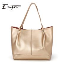 Buy ESUFEIR Brand Bag Women Genuine Leather Handbag Fashion Solid Color Cowhide Shoulder Bag Large Casual Tote Composite Women Bag for $39.68 in AliExpress store