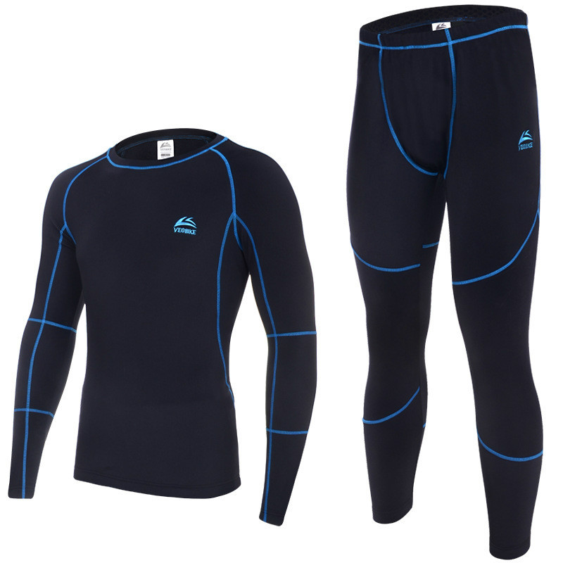 2014 new thermal underwear men sets compression sport fleece sweat quick drying thermo