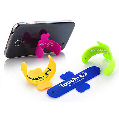 5pcs One touch U wing design silicone stand Rubber Cell phone sucker Holder For Phone(China (Mainland))