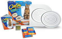 Hotsale pet supplies cat mat Plastic Easy to Learn Cat Toilet Training Kit for pet Training and Behaviour Aids drop(China (Mainland))