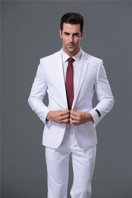 Aliexpress.com : Buy Customize Men Suits Fashionable Fit Business Suits Red/White/Blue Tuxedo ...