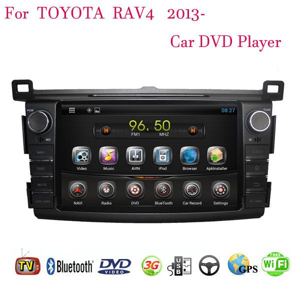 1024*600 Android 4.4.4 Fit Toyota RAV4 2013 2014 2015 Car DVD Player GPS TV 3G Radio WIFI Bluetooth(China (Mainland))