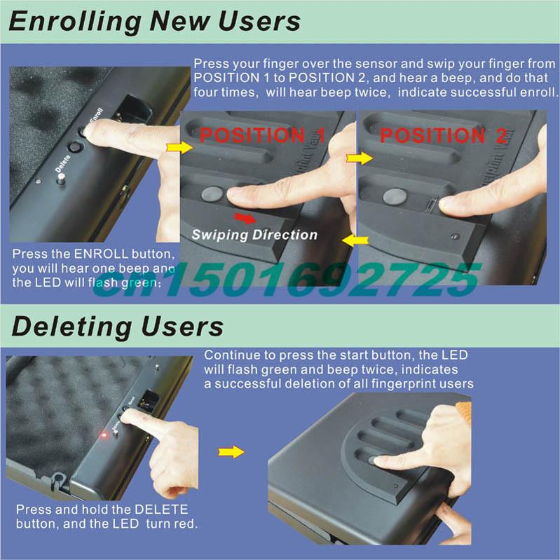 MS500-2 Fingerprint safe box the four panel A4 file storage box iPad laptop computer mobile phone money