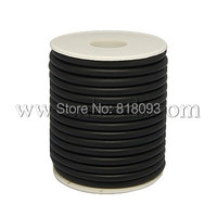 Synthetic Solid Rubber Cord,  Wrapped Around White Plastic Spool,  Black,  5mm; about 7.5m/roll