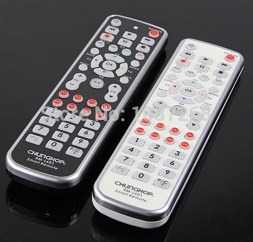 Free Shipping New 8in1 Universal Remote Control Controller For TV1 TV2 CBL SAT DVB DVD AMP CD(China (Mainland))
