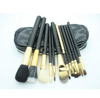 Fashion Hot Sale Beauty Cosmetic Brushes Makeup Brush Set 12Pcs/Set Good Quality Hair Round Box Replace Mac(China (Mainland))