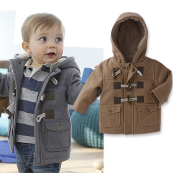 2013 winter fashion horn button child thickening thermal outerwear overcoat male child outerwear boy jacket retail