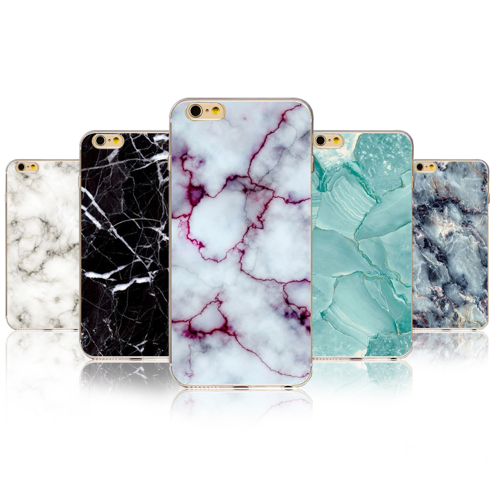 Fashion Phone Cases For iPhone 4 4S 5 5S SE 5C 6 6S 6Plus 6sPlus Marble Image Painted Landscape Pattern Cover Oil Painting Capa(China (Mainland))