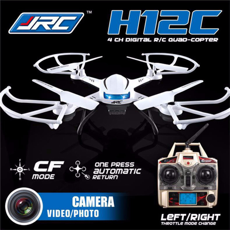 JJRC H12C 6 Axis Headless Mode 2.4G 4CH RC Quadcopter 360 Degree Rollover UFO Helicopter Professional Drone with 2.0MP HD Camera<br><br>Aliexpress