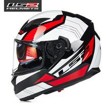 New arrive 100% original LS2 ff320 motorcycle helmet with inner sun visor full face helmet double visor helmet with airbags(China (Mainland))