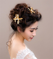 3pc lot Gold Butterfly Hair Clip Wedding Hair Accessories Bridal Headpiece Clips Ornaments Pearl Jewelry Pince