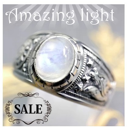 Здесь можно купить  925 pure natural Moonstone Ring ring the werewolf trend 925 pure natural Moonstone Ring ring the werewolf trend Ювелирные изделия и часы
