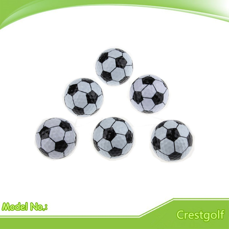 6pcs/lot Football Golf balls Two Layer Golf practice Ball as golf gift for friend Free Shipping retail(China (Mainland))
