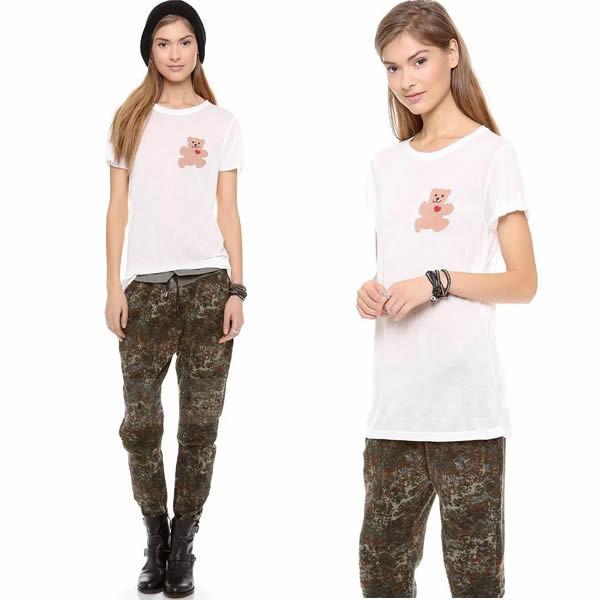 american apparel women clothing plus size tshirt white t shirt summer 2015 bear tee roupas femininas ladies tops t-shirt camisas(China (Mainland))