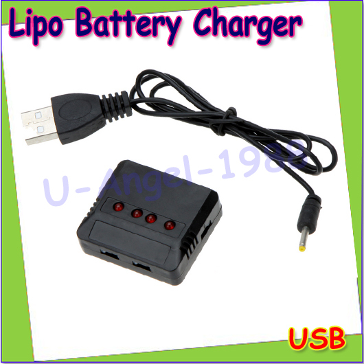 Wholesale 1pcs Mini 4 Port 5 port Lipo Battery USB Charger for Hubsan H107/Wltoys/Syma X5C/UDI U816 UFO Quadcopter Helicopter