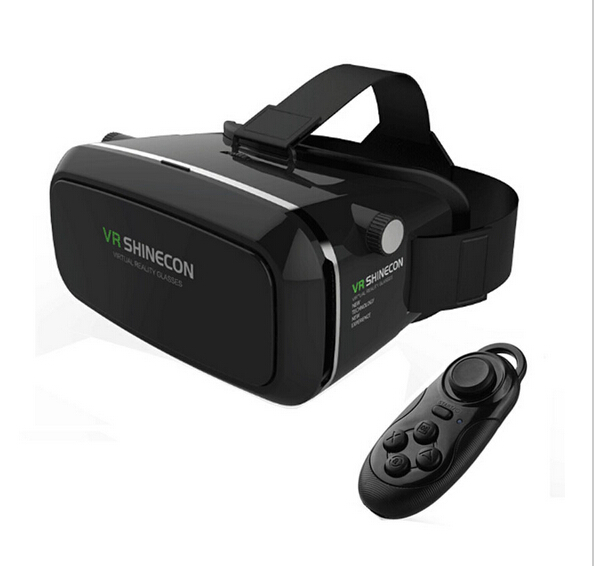 """VR Shinecon Virtual Reality 3D Glasses For 4.7-6"""" Screen Phone Google Cardboard Head+Bluetooth Wireless Mouse Gamepad VR BOX 3.0(China (Mainland))"""