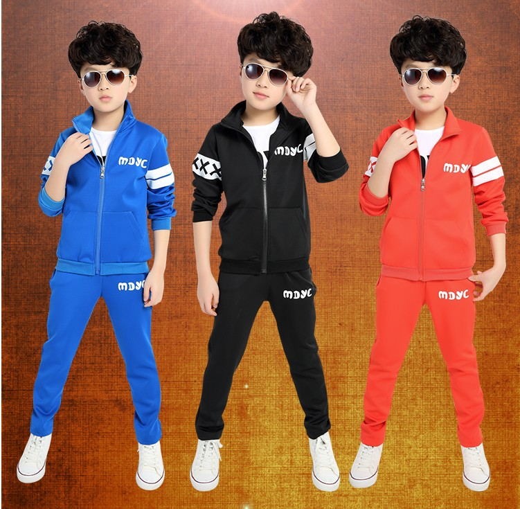 2016 Spring Autumn Children Clothing set Boys And Girls Sports Suit 3-12 Years Kids Tracksuit Baby Girls & Baby Boys Clothes Set(China (Mainland))