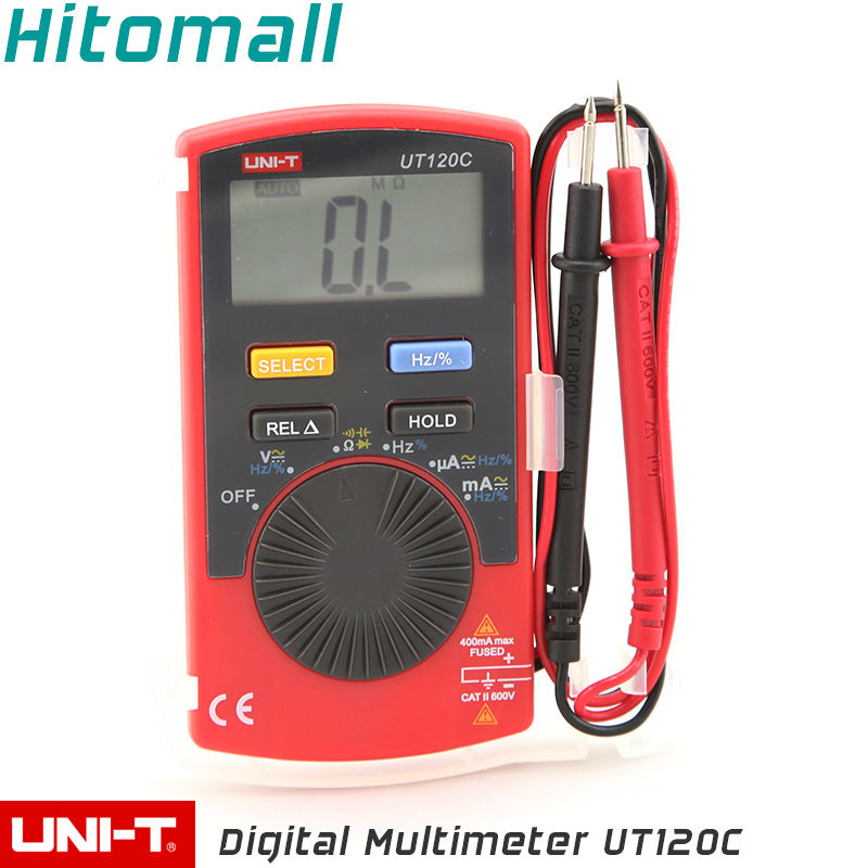 Students School Use Pocket Size Auto Range 4000Counts 400mA 600V Resistance Capacitance Frequency Unit Digital Multimeter UT120C(China (Mainland))
