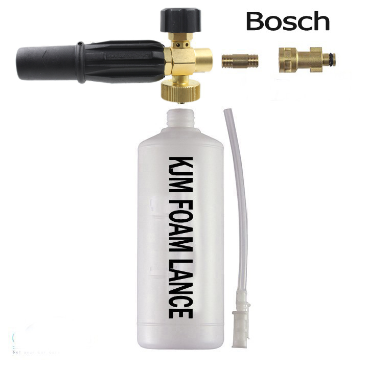 Free shipment adapter italy made high quality high pressure car wash Snow Foam Lance connect to Bosche Pressure Washer(China (Mainland))