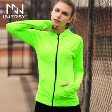 Innersy Fashion New Thin Women Summer Running Jacket Female Coat Spring Sun Protection Outerwear Outdoor Sport Jacket Jzh96