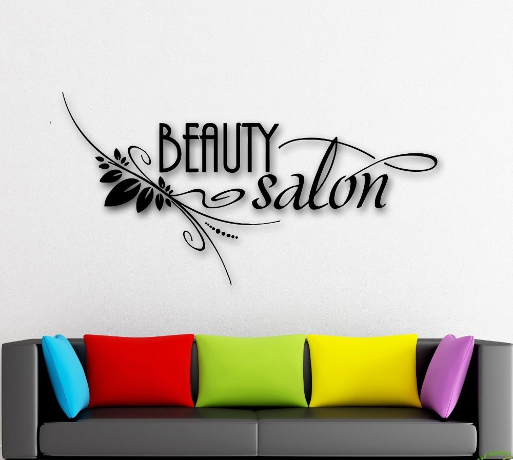 Hot Selling Salon Vinyl Wall Decal Beauty Spa Barber shop Hair Stylist Mural Art Sticker Window Glass Decoration - CANTON V STORE store