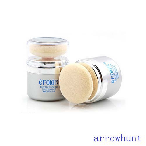 New Shimmer Pure Mineral Power Foundation 2 In 1 Sponge Facial Make-up Powder(China (Mainland))